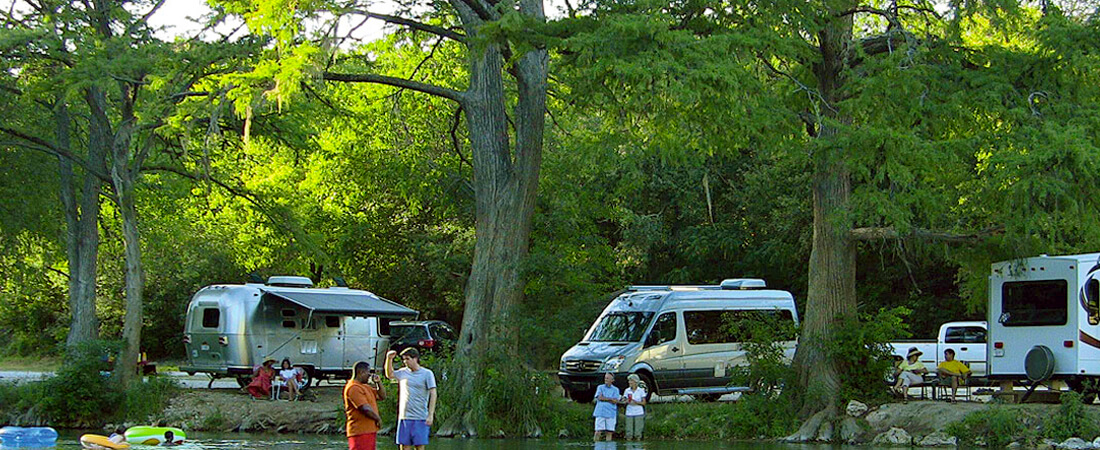 families rv camping at ghost mountain ranch